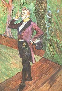 Portrait of M. Samary - 1889 - Musee d Orsay - Albi - Painting - oil on cardboard by Henri de Toulouse-Lautrec