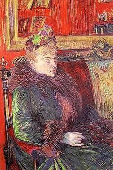 Portrait of Madame de Gortzikolff - 1893 - PC - Painting - oil on cardboard by Henri de Toulouse-Lautrec