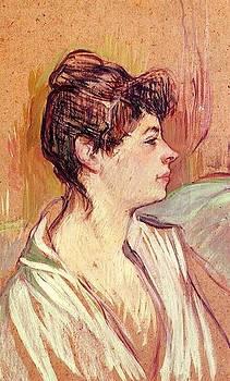 Portrait of Marcelle - 1893-94 - Musee Toulouse-Lautrec - Albi - Painting - oil on cardboard by Henri de Toulouse-Lautrec