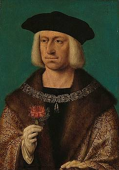 Portrait of Maximilian I, holy Roman emperor by Joos van Cleve
