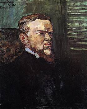 Portrait of Octave Raquin - 1901 - Museu de Arte Assis Chateaubriand - Painting - oil on canvas by Henri de Toulouse-Lautrec