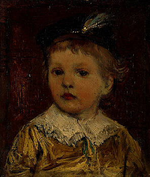 Portrait of Willem - probably Willem Matthijs Maris son of the artist by Jacob Maris