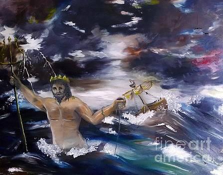 Poseidon Saving Sailors by Abbie Shores