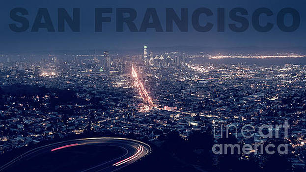 Poster of Downtown San Francisco With Harbor on the Right by PorqueNo Studios