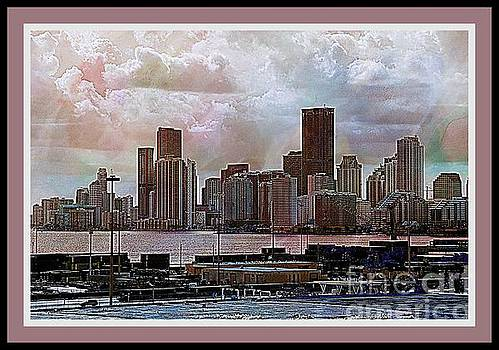 Port Of Miami Textured by Kathleen Struckle