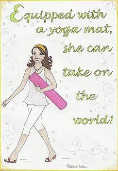 Power of Yoga Mat by Stephanie Hessler