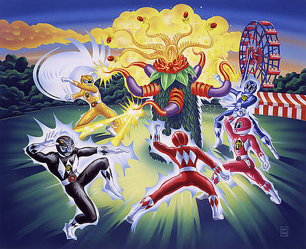 Power Rangers Art by Garth Glazier