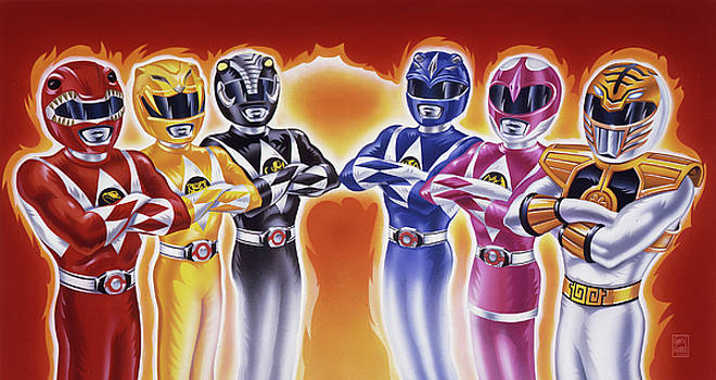 Power Rangers Heroes Art by Garth Glazier