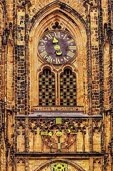 Prague Church Clock by Andrew Soundarajan
