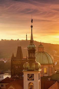 Prague Spires by Andrew Soundarajan