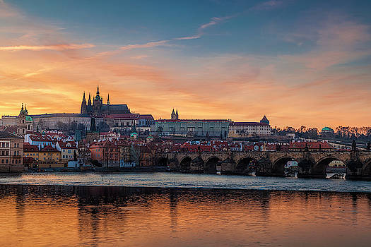 Prague Sunset by Andrew Soundarajan