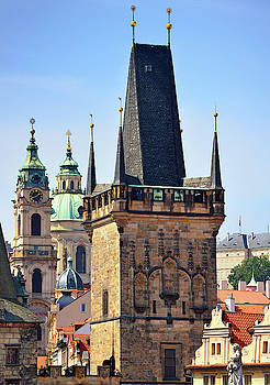 Prague Towers  by Kathy Yates