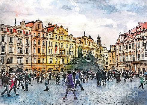 Praha city arte by Justyna JBJart
