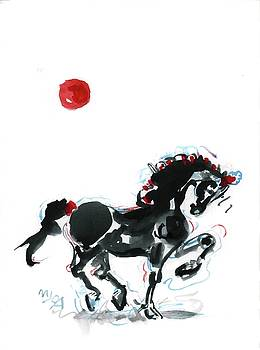 Prancing horse by Mary Armstrong