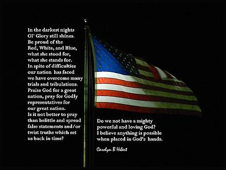 Pray For Our Country - U S A by Carolyn Hebert