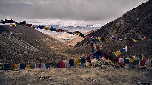 Prayer Flags in the Himalayas by Whitney Goodey