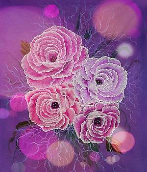 Precious roses pink stardust  by Angela Whitehouse