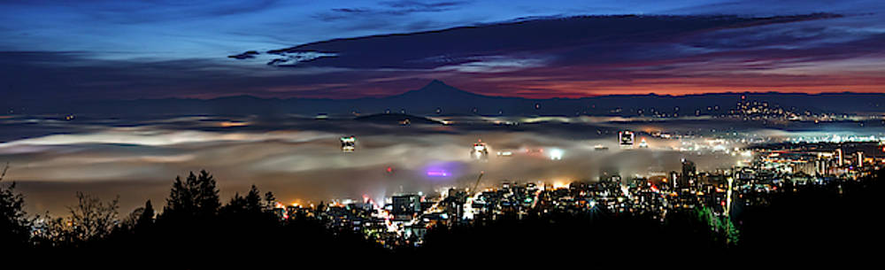 Predawn Portland by Wes and Dotty Weber
