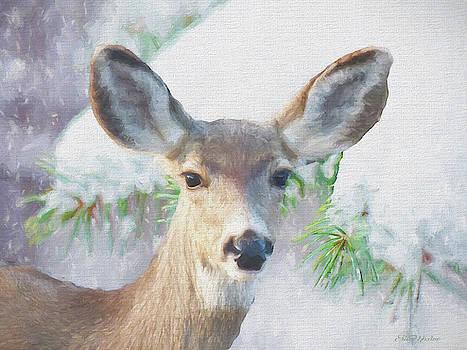 Prescott Deer - Painting by Ericamaxine Price