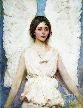 Tina Lavoie - Pretty Angel With White Wings Vintage art