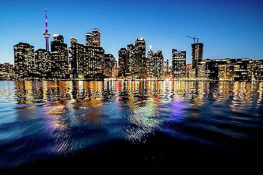 Pretty Blue skies in Toronto this evening by Sven Brogren