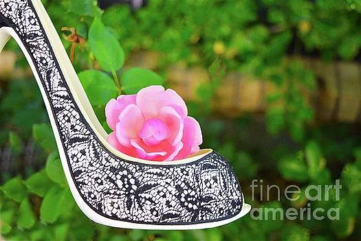 Pretty in Pink Flower Shoe by Sherry Little Fawn Schuessler