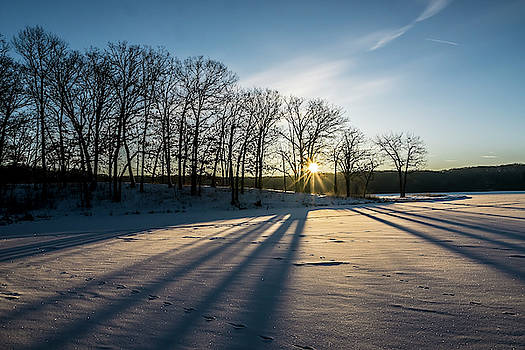 Pretty Winter sun rise scene by Sven Brogren
