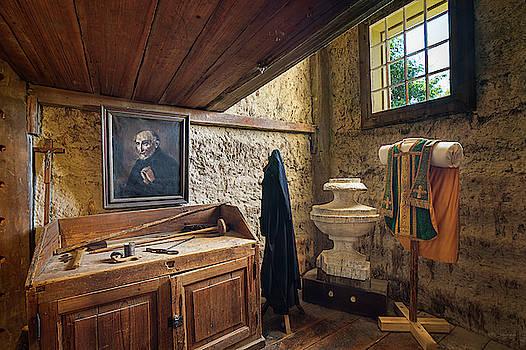 Priest's Room, Old Mission, Cataldo, Idaho by David Sams
