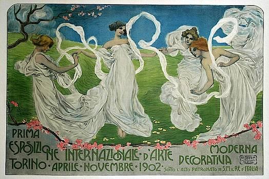 Prima Esposizione, italian poster ca 1902 by Leonardo Bistolfi