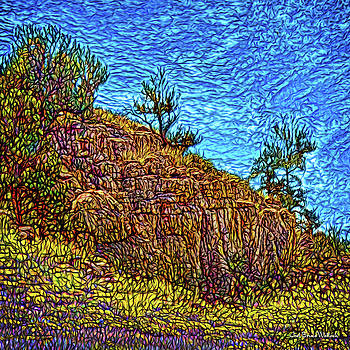 Primeval Red Cliffs by Joel Bruce Wallach