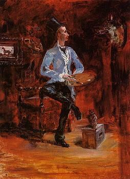 Princeteau in His Studio - 1881-82 - PC - Painting - oil on canvas by Henri de Toulouse-Lautrec