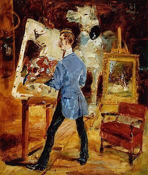 Princeteau in His Studio - 1881 - PC - Painting - oil on canvas by Henri de Toulouse-Lautrec