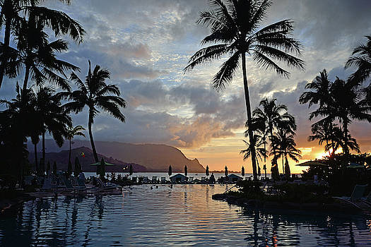 Princeville Sunset by Kathy Yates