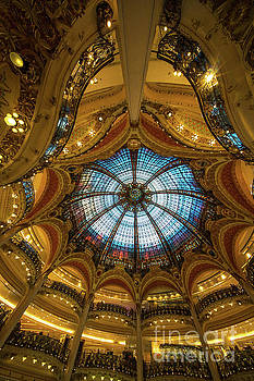 Printemps Department Store Interior and Stained Glass Ceiling Cupola by Mike Reid