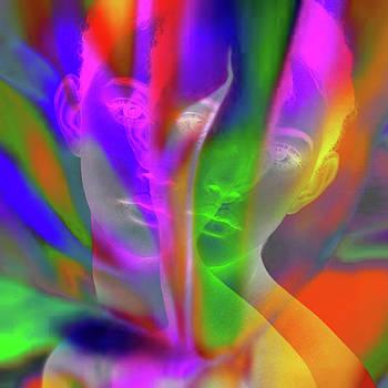 Prism Girl II    Mulit Dimensional Woman by Robert R Splashy Art Abstract Paintings