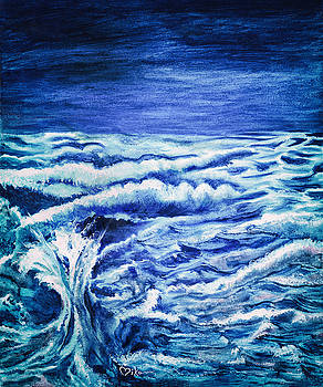 Promethea Ocean Triptych 3 by Miko At The Love Art Shop