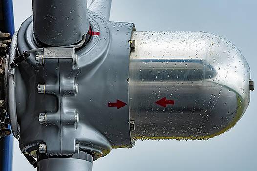 Propeller Hub and Rain Drops by Chris Buff