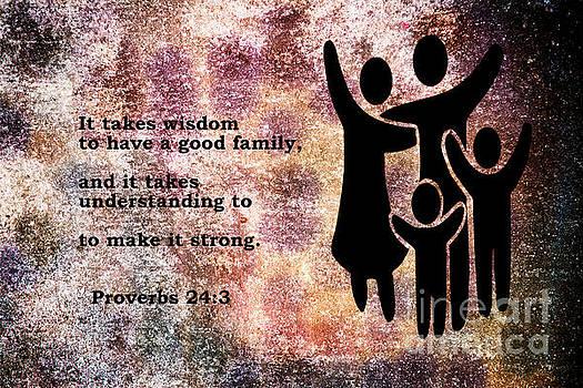 Proverbs 24  3 - Christian art print by Ella Kaye Dickey