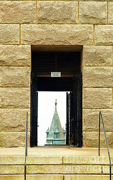Sharon Williams Eng - Provincetown Pilgrim Monument View of Town Hall