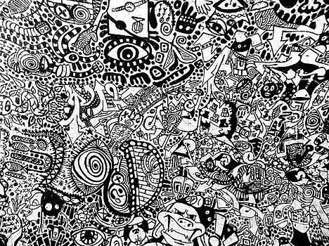 Psychodoodly in London by Suzette Kallen