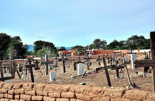 Pueblo cemetery by Gerald Blaine