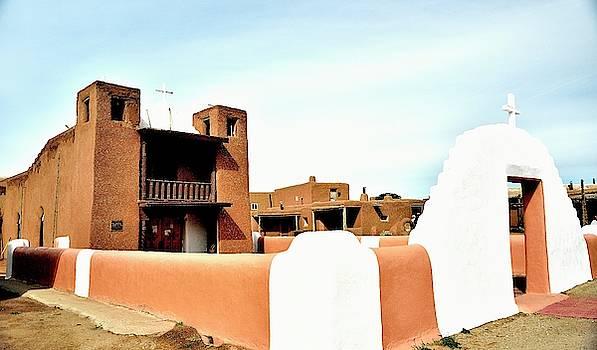 Pueblo Church by Gerald Blaine