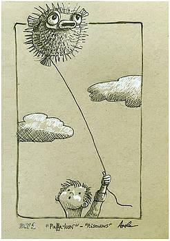 Puffaloon  by Linda Apple