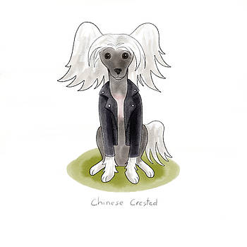 Punk Rock Chinese Crested by Christy Beckwith