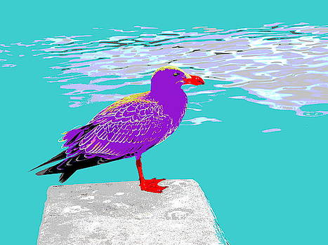 Purple Albatross - Pop Art by Lexa Harpell