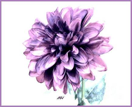 Purple Blend Petals Two by Marsha Heiken