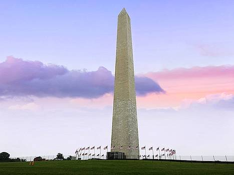 Purple Cloud Through The Washington Monument by Kathy Gail