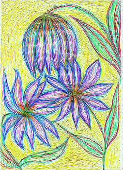 Purple flowers by Dobrotsvet Art