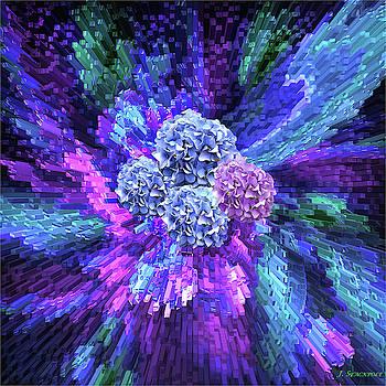 Purple Passion With Hydrangea by Jennifer Stackpole