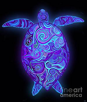 Purple Sea Turtle  by Nick Gustafson